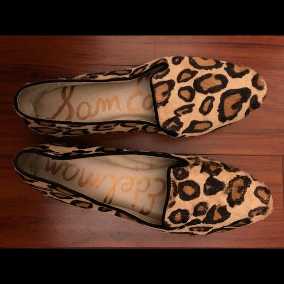 9f49f0018bb2 Sam Edelman Shoes - Sam Edelman Leopard print loafers - size 8